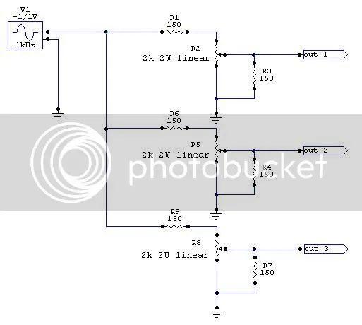 headphone volume control circuit