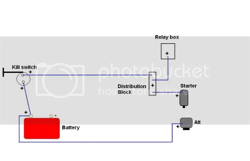 Wiring diagram for Battery relocation and Master Kill switch - Honda