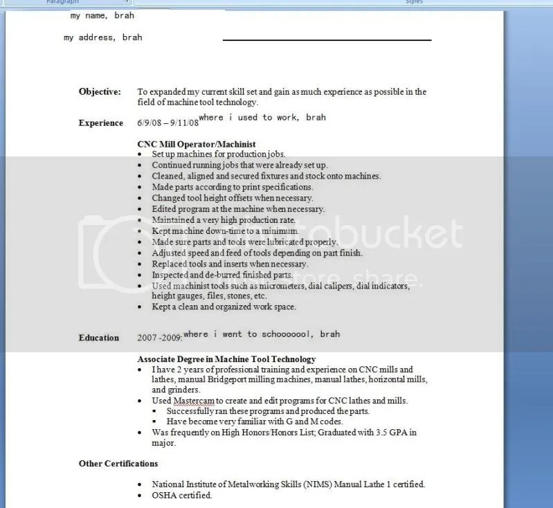 what does a resume look xv-gimnazija