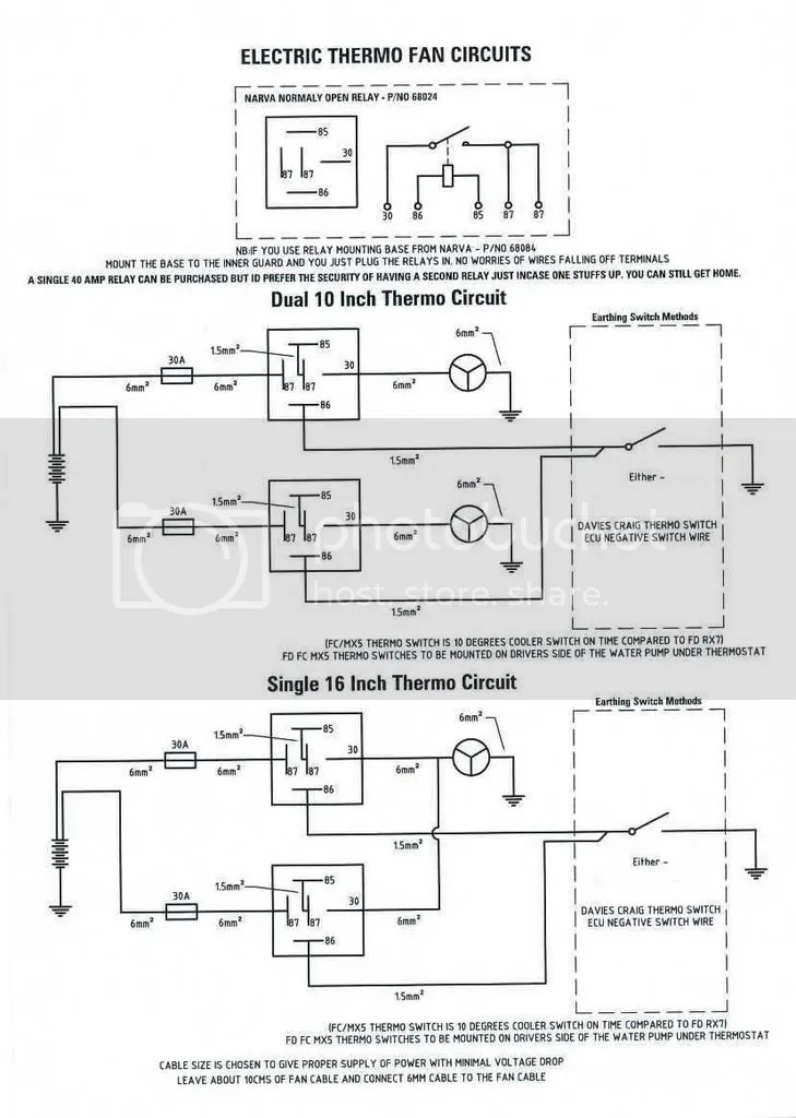 how to properly set up electric thermo fan/s - AusRotary