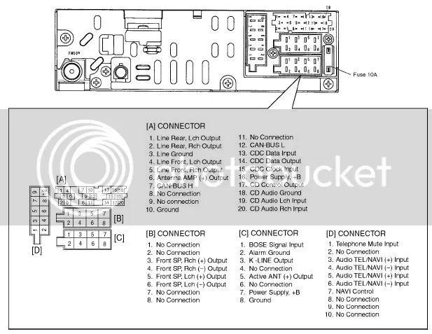 mazda radio diagrama de cableado