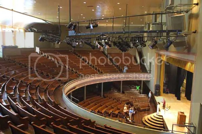 Off topic but a question about the Ryman and seating if you please