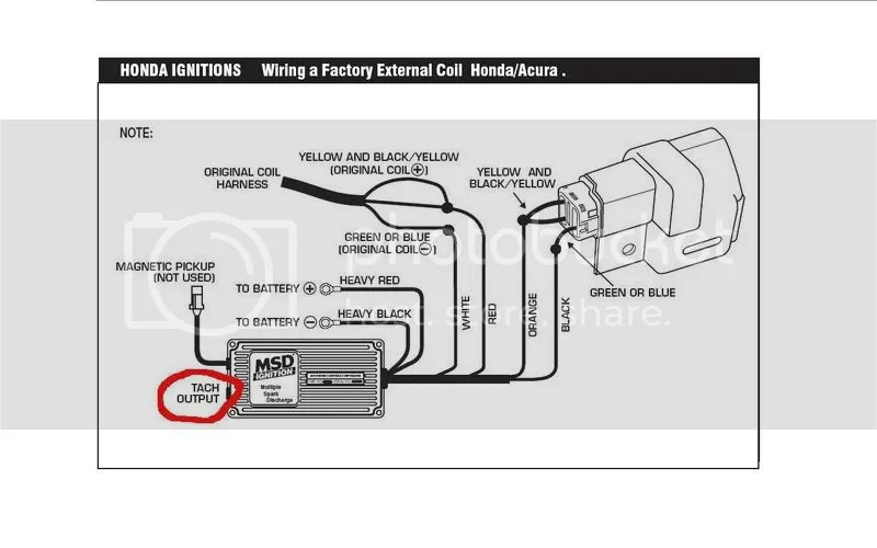Msd 6al Tach Hook Up Wiring Schematic Diagram