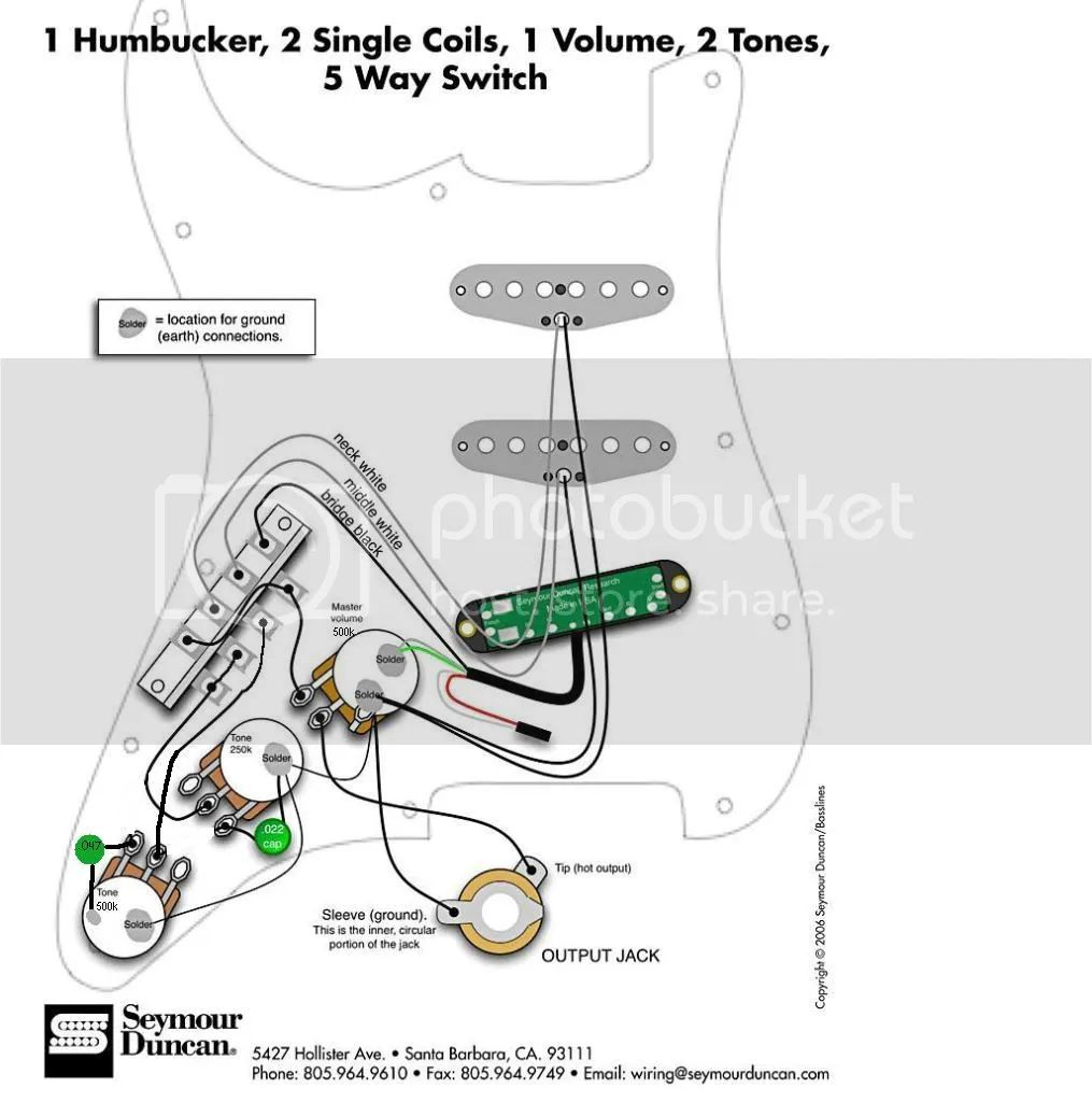 hss wiring with no tone pot