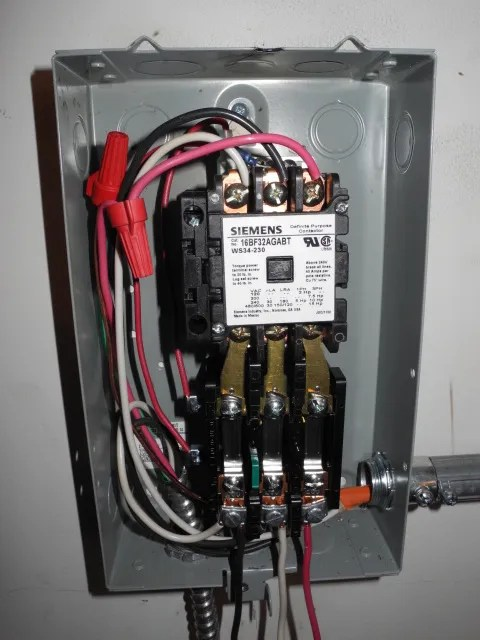 How to connect run/stop switch to 3-phase mag starter for RPC?