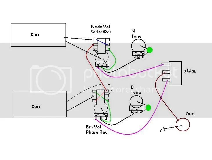 wiring diagram 2 p90s 1 volume tone