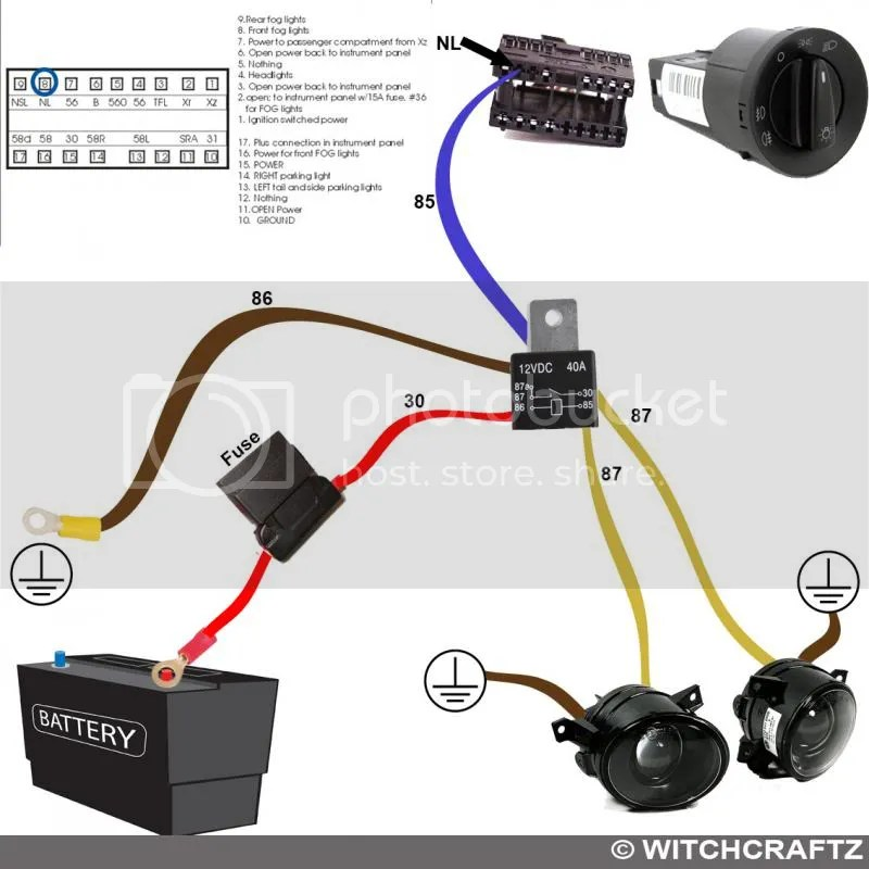 VWVortex - DIY Fog lights mk4 harness wiring diagram