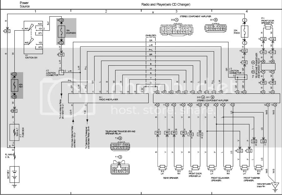 2006 lexus es330 radio wiring diagram