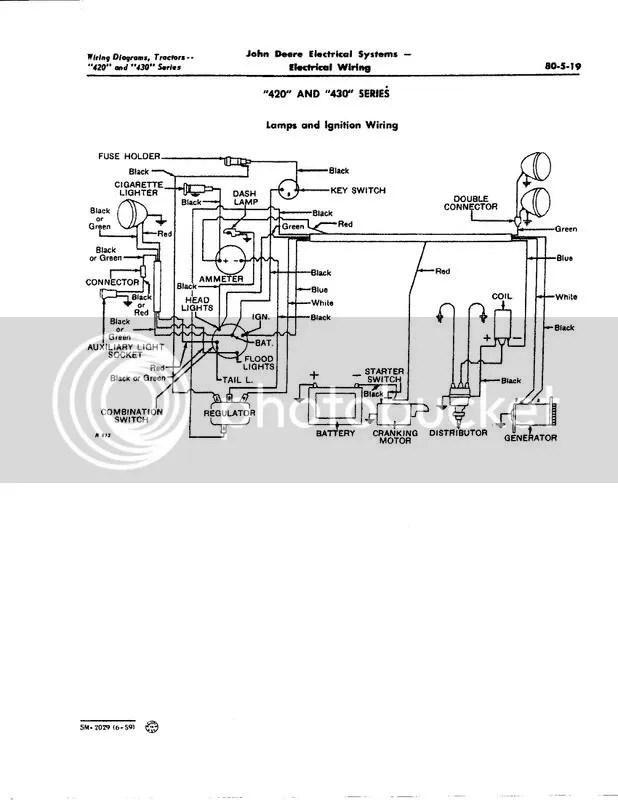 John Deere 420 Wiring Diagram Wiring Schematic Diagram
