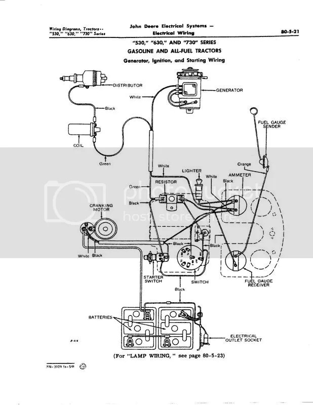 630 JD wiring question for electro - Yesterday\u0027s Tractors