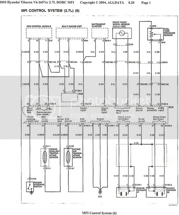 06 Hyundai Tiburon Wiring Diagram - Wiring Data Diagram