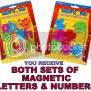 Magnetic Letters Number Alphabet Magnet Set Kids Toy