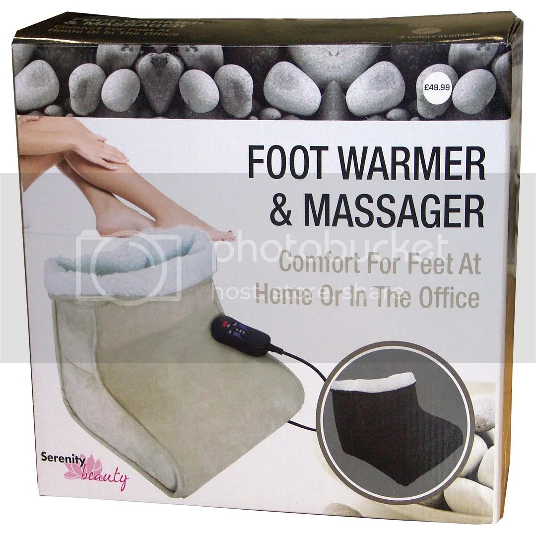 Foot Massager Feet Warmer Electric Beige Heated Comfort