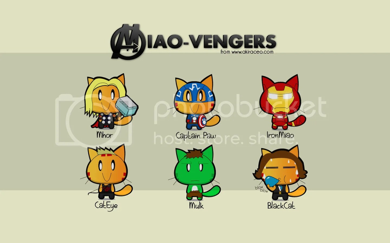 Cute Cartoon Desktop Wallpapers Miao Amp Wafupafu Comic Blog 187 Wallpapers Miao In Avengers