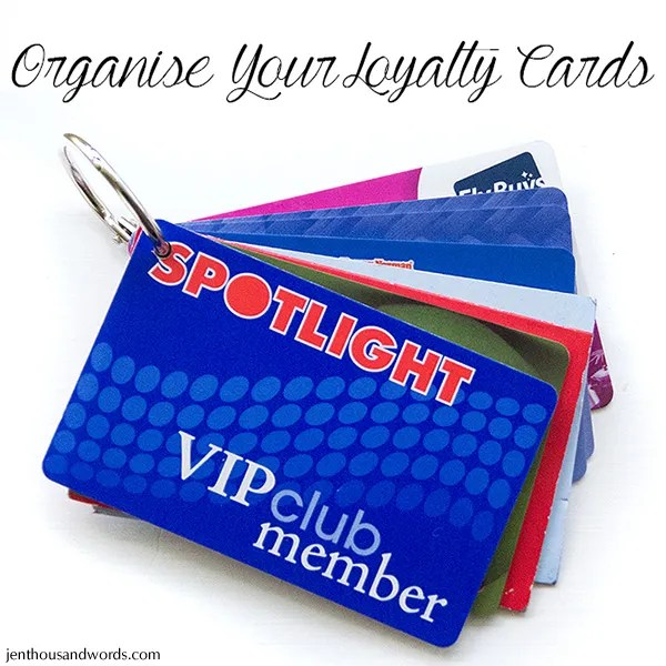 a thousand words Organising loyalty cards