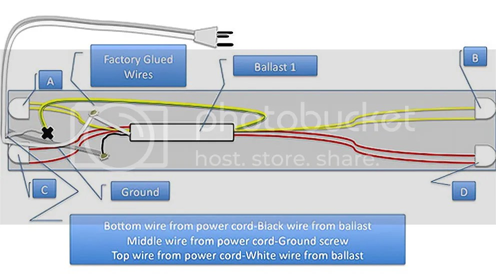 Fluorescent Light Wiring Control Cables  Wiring Diagram