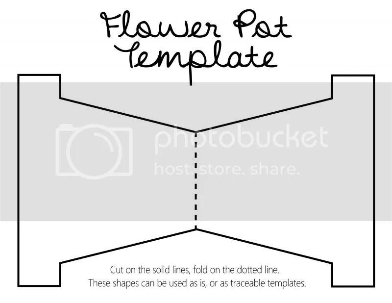 KareWares DIY Revisited Mother\u0027s Day flower pot with template