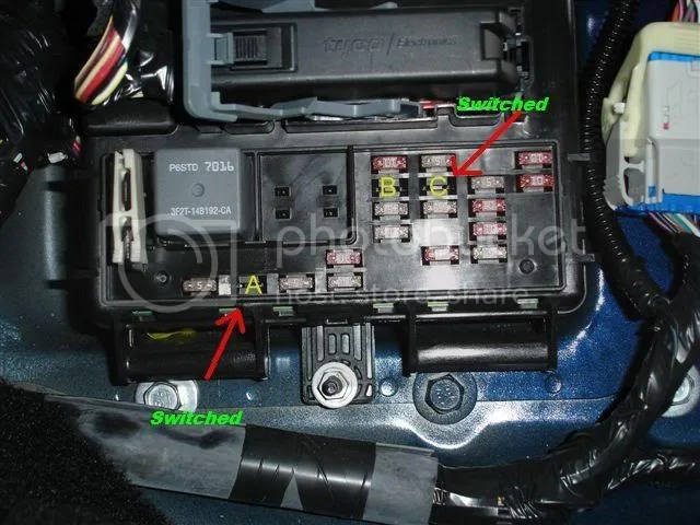 2004 ford mustang fuse box power from fusebox the mustang source