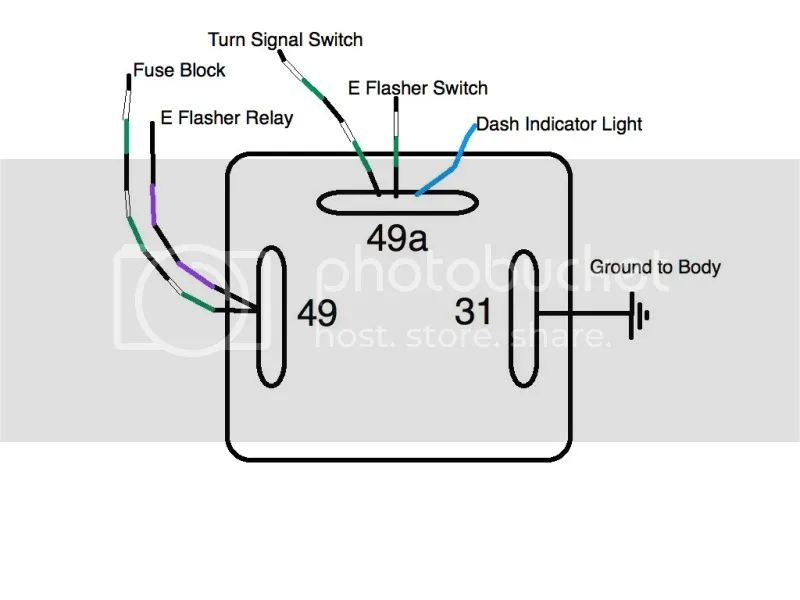 2 prong flasher relay wiring diagram