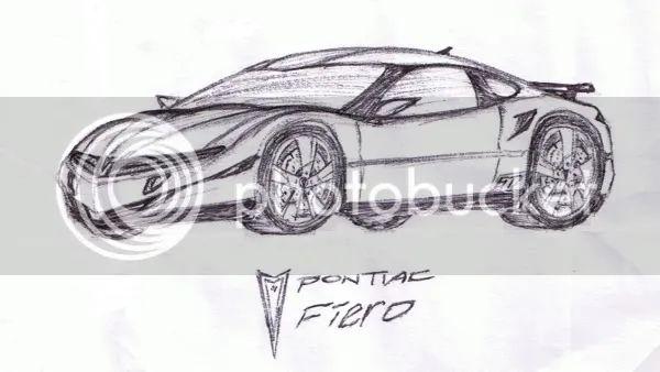 pontiac fiero drawings