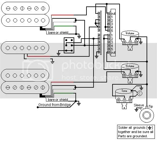 hsh 5 way guitar switch wiring diagrams
