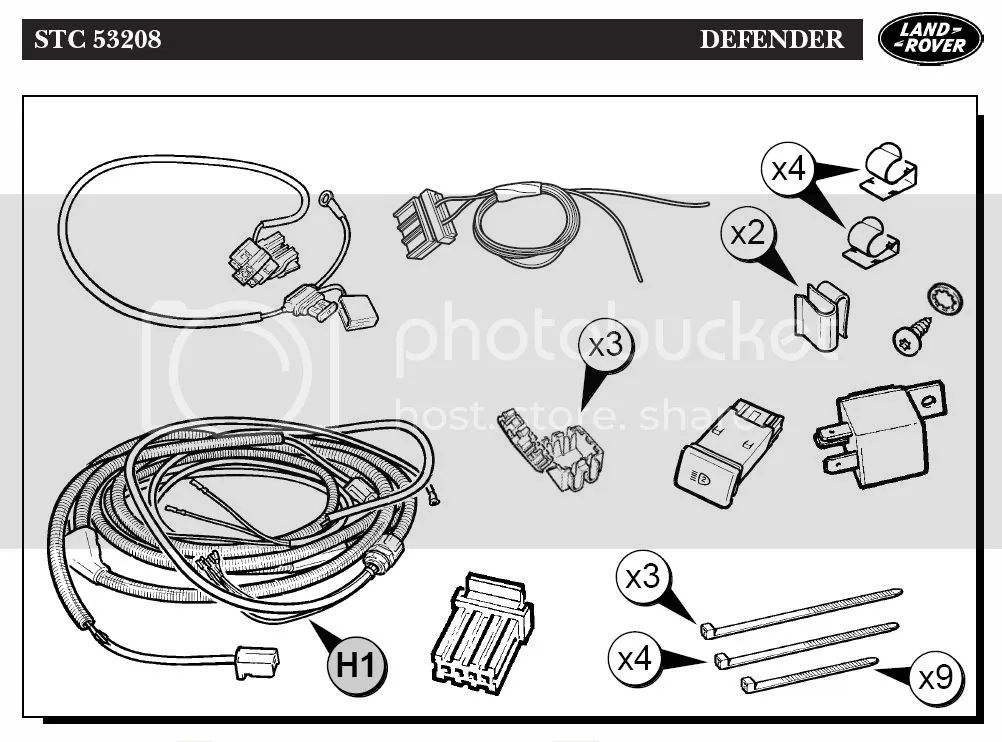 land rover defender fog light wiring