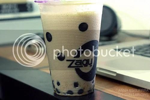 Mocha flavored Zagu drink