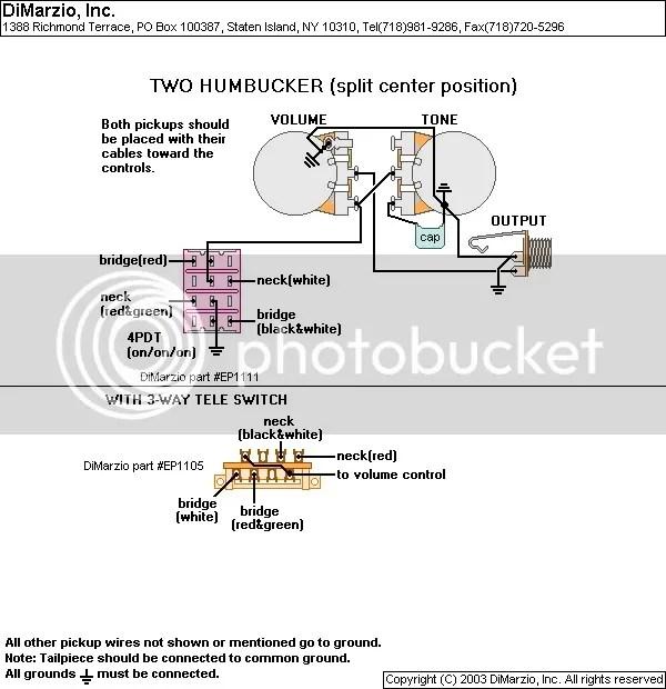 Complete Dimarzio Pickup Routing Specs/Wiring Diagrams SevenStringorg