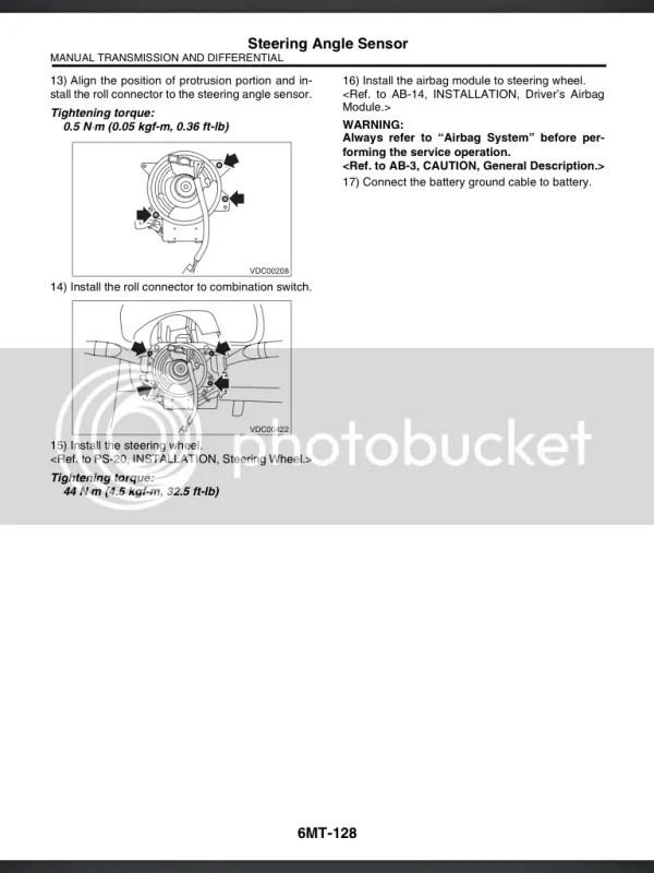 Steering Angle Sensor Calibration? - NASIOC
