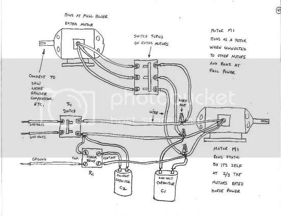 homemade rotary phase converter wiring diagram single phase ac to