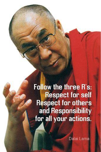 Buddhist Quote Phone Wallpaper Follow The Three R S Respect For Self Respect For Others