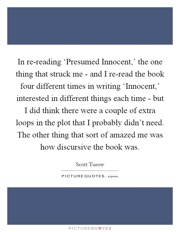 In re-reading \u0027Presumed Innocent,\u0027 the one thing that Picture - presumed innocent book