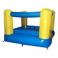 Custom PVC Square Inflatable Jumping Castle , Small Bounce