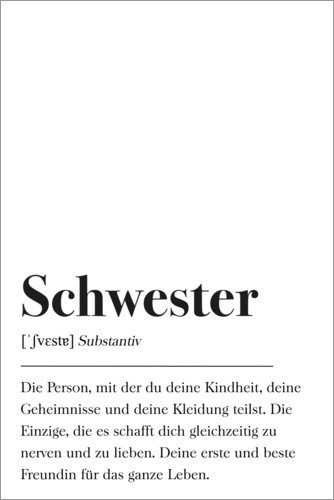 Poster Babyzimmer Johanna Von Pulse Of Art Schwester Definition Poster
