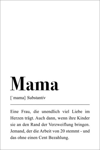 Bilderrahmen Kinderzimmer Pulse Of Art Mama Definition Poster Online Bestellen