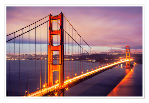Babyzimmer Online Bestellen Die Golden Gate Bridge In Der Nacht, San Francisco Poster