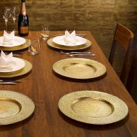 Buy Festive Glass Charger Plate, Set of 6 online