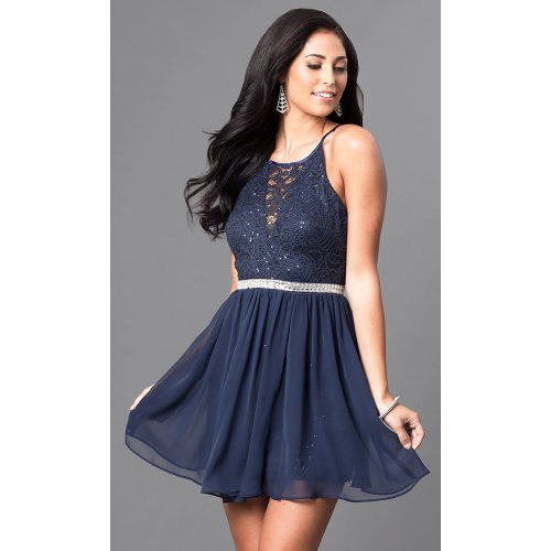 Medium Crop Of Navy Blue Cocktail Dress