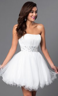Designer Babydoll Party Dress with Corset