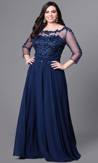 Plus Size Formal Dresses With Sleeves | All Dress