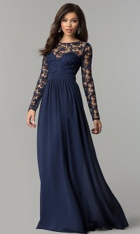 Chiffon and Lace Long