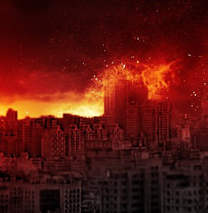 Paint Falling Wallpaper Create Dramatic Meteor And Burning City Effect In