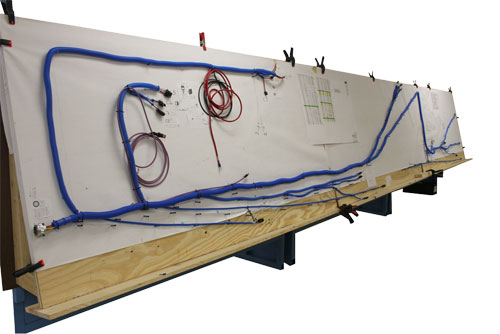 Industrial Crane Chassis Harness on Wire Board - QualityTrade