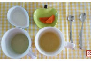 【小風副食品】3道小風妹妹好愛吃的副食品:地瓜米糊、紅蘿蔔梨子泥、綠豆仁米糊