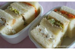 【小雨幼兒食】三色三明治&自製優格沙拉醬