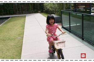 小雨學會騎兩輪腳踏車