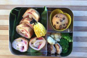 【便當日記】#17水果法式吐司捲Bento #17 Fruits French Toast Roll Ups