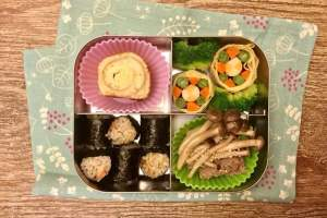【便當日記】#44 沖繩風味炊飯飯糰Bento #44 Okinawa Rice Ball