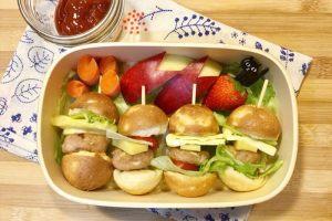 【便當日記】#57迷你漢堡Bento #57 Mini Burger Recipe