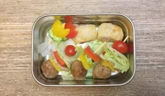 【便當日記】#64 培根丸子蔬果串 Bento #64 Bacon Meatball Veggie Skewers